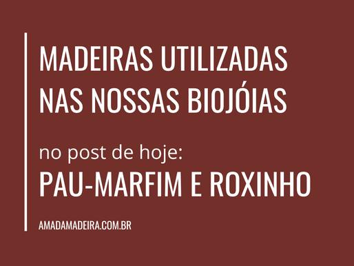 Madeiras utilizadas nas nossas biojóias: Pau-Marfim e Roxinho