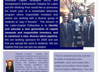 Announcing the 2020 LCS Fellowship Program