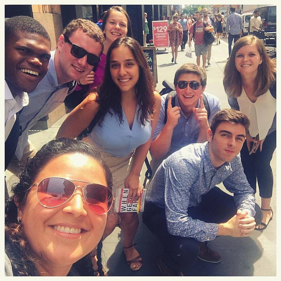 Jessica Fernanda Chilin from Kalmanovitz with the Fellows in NYC!