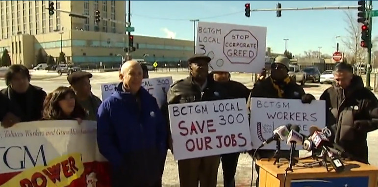 Protesters at Nabisco Plant closing