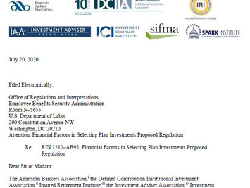 Letter from The American Bankers Association, and Other Trade Associations