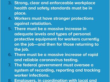 Safety First: Working People's Plan for Reopening the Economy the Right Way