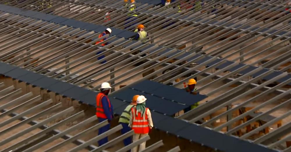 Solar panel installtion