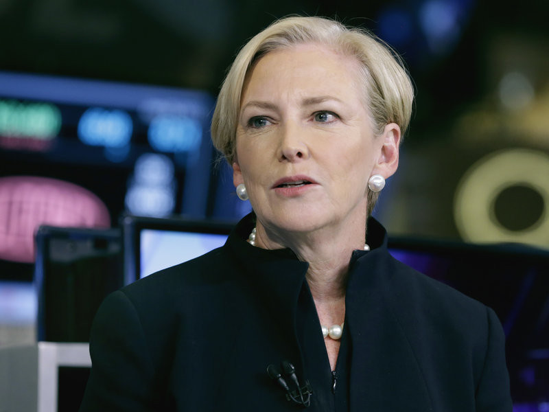 Ellen Kullman is one of the four women on the Goldman Sachs board of directors. The former DuPont CEO says she has developed a network of female executives and is giving recommendations to companies looking for female board members.  Richard Drew/AP