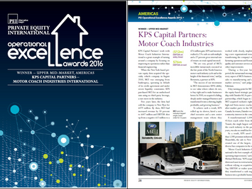 KPS Capital Partners Receives PEI's Operational Excellence Award