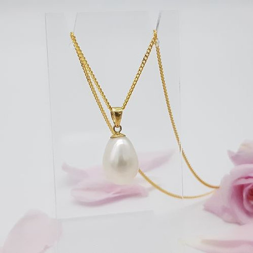 9 CT YELLOW GOLD FRESH WATER CULTURED  PEARL PENDANT