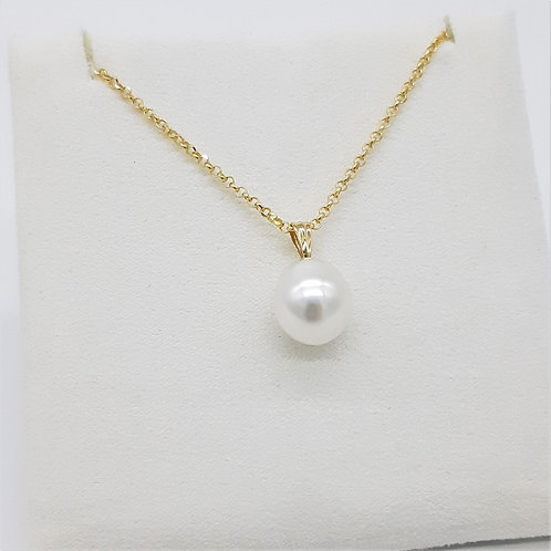 18CT YELLOW GOLD AUSTRALIAN SOUTH SEA PEARL PENDANT