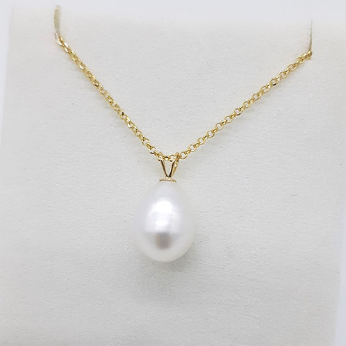 9CT YELLOW GOLD FRESH WATER CULTURED PEARL PENDANT