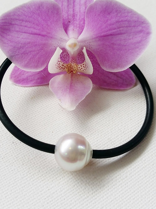 AUSTRALIAN SOUTH SEA CULTURED PEARL 3MM NEOPRENE BANGLE