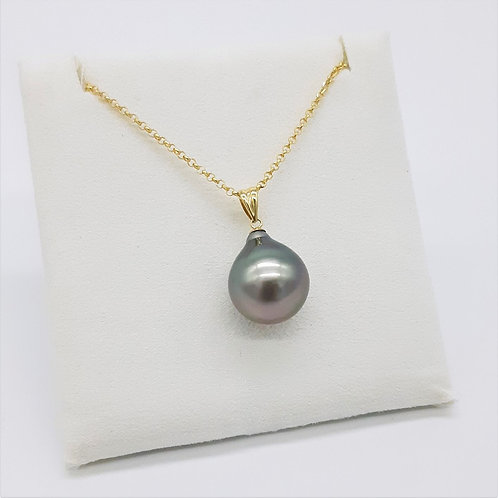 18CT YELLOW GOLD TAHITIAN SOUTH SEA PEARL PENDANT