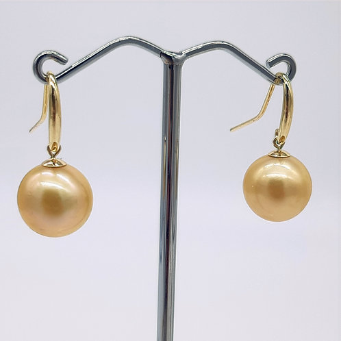 GOLD SOUTH SEA PEARL FRENCH HOOKS