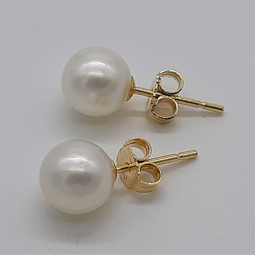 18CT YELLOW GOLD SOUTH SEA PEARL STUD