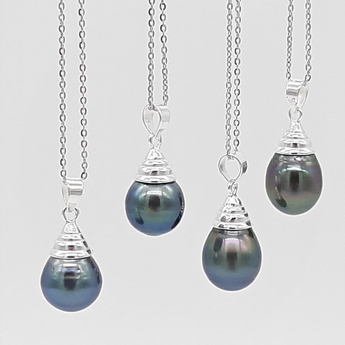 TAHITIAN SOUTH SEA PEARL PENDANT WITH CHAIN