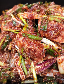 큰 꽃게 양념게장 LARGE MARINATED SPICY RAW CRAB, 10-12조각/PIECES - 3-4인분/SERVINGS