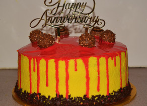 Anniversary Drip Cake