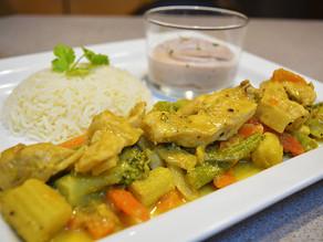 Thai Chicken with taro (arouille) mousse !