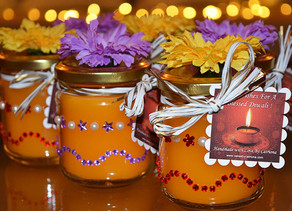 Cat`s special Divali DIY Candle Gift !
