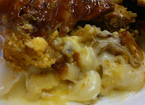 Soft Mashed potatoes with caramelized onions