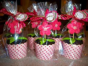 Edible flower pot making-of !