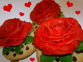 Mother`s day cookie rose Making-Of
