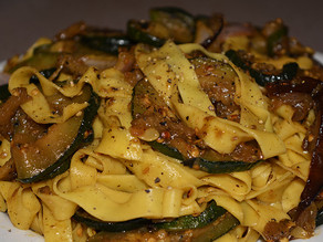 Sauteed tagliatelle with grilled vegetables !