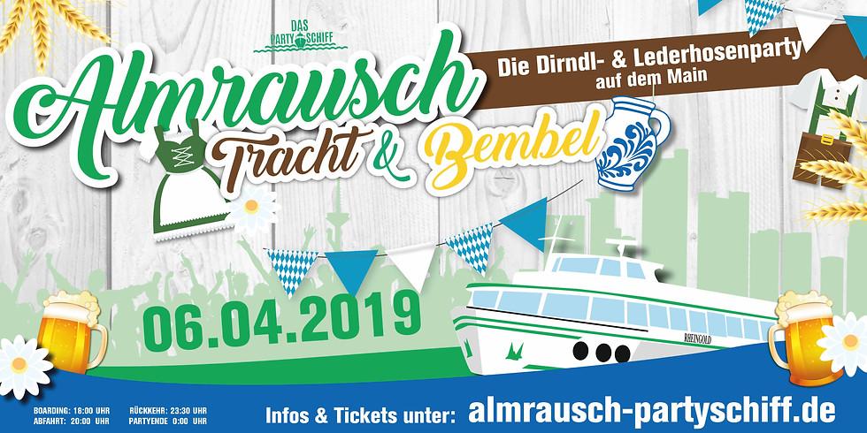 Almrausch Partyschiff Frankfurt 06.04.2019
