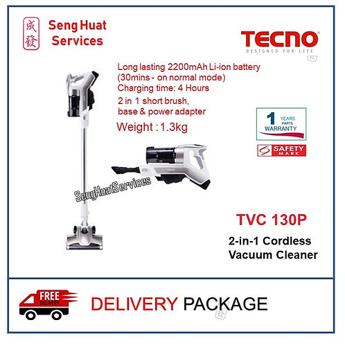 TECNO TVC 130P 2-in-1 Cordless Vacuum Cleaner DELIVERY