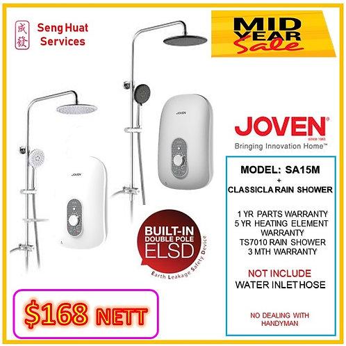 Joven SA15M  Instant Heater+ CLASSICAL Rain Shower MID YEAR SLAE