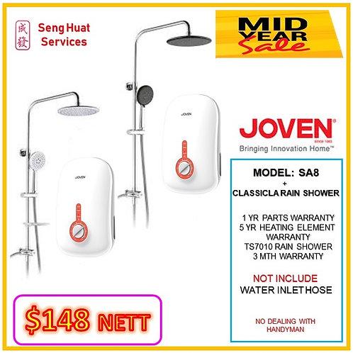 JOVEN SA8 Instant heater + TS7010 Rain Shower MID YEAR SALE