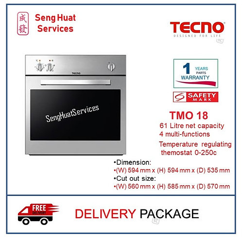 Tecno TMO 18 4 Multi-Function Electic Built-in Oven