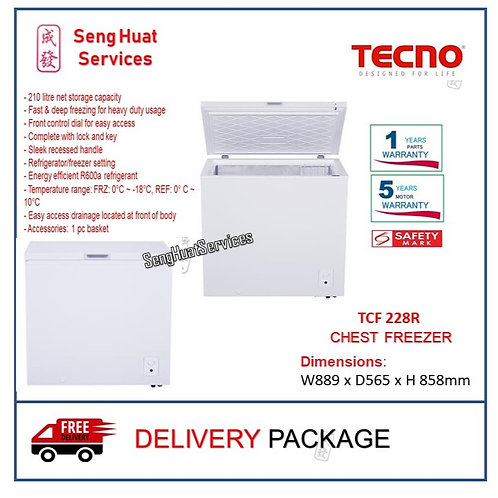 Tecno TCF 228R 210L Chest Freezer
