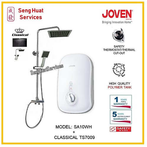 Joven SA10 WH Instant Heater +CLASSICAL Rain Shower ( SERVICES OPTION TO SELECT)