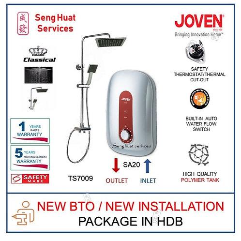 Joven SA20 Instant Heater + CLASSICAL Rain Shower NEW BTO INSTALL COD