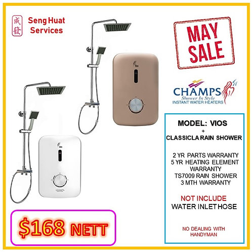 CHAMPS VIOS+ CLASSICAL Rain Shower MAY SALE