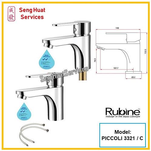 Rubine PICCOLI 3321 BASIN TAP SERVICES OPTION SELECT