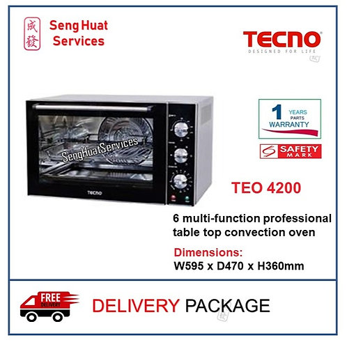 TECNO TEO 4200 6 multi-function professional table top convection oven DELIVERY