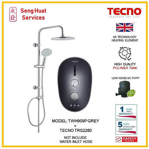 Tecno TWH909P Heater With TECNO Rain Shower ( SERVICES OPTION TO SELECT )