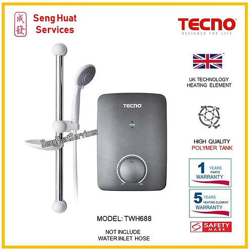 TECNO TWH688 INSTANT HEATER ( SERVICES OPTION TO SELECT )