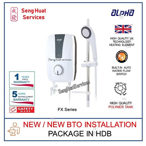 ALPHA FX SERIES Instant Water Heater NEW BTO INSTALL COD