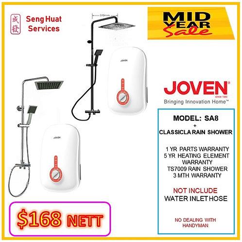 Joven SA8  Instant Heater+ CLASSICAL Rain Shower MID YEAR SLAE