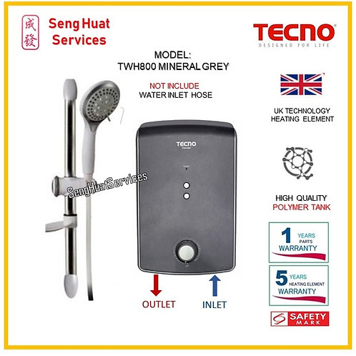 TECNO TWH800 instant Water Heater  ( SERVICES OPTION TO SELECT )