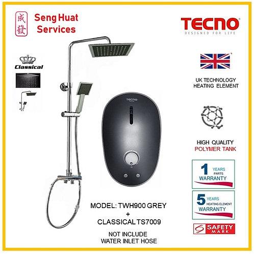 TECNO TWH900 Instant  Heater+CLASSICLA Rain Shower ( SERVICES OPTION SELECT)