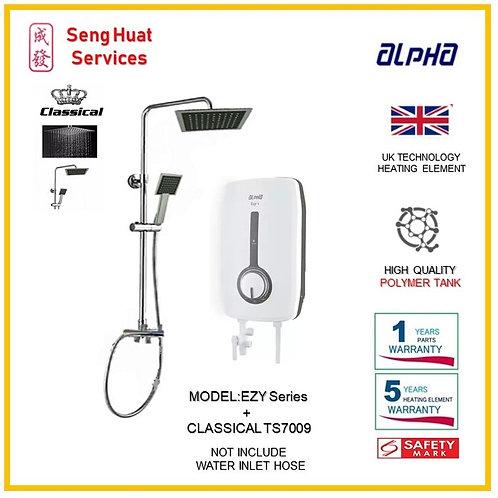 ALPHA EZY SERIES  Heater +CLASSICLA  Rain Shower ( SERVICES OPTION TO SELECT )