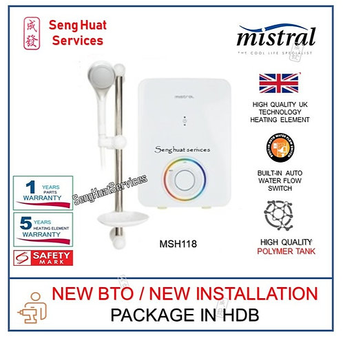 Mistral MSH118 Instant Shower Heater NEW BTO INSTALL