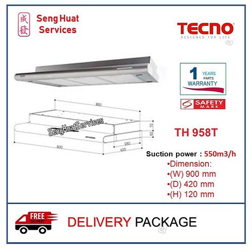 Tecno TH 958T Slim Line Cooker Hood with Round Profile COD