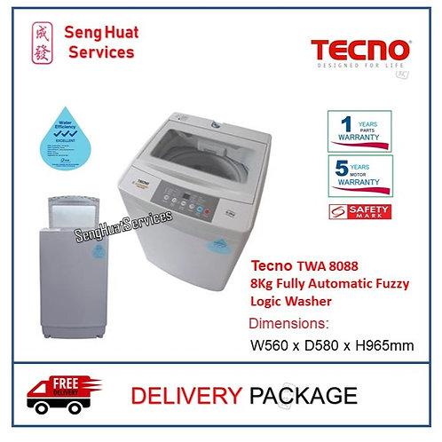 Tecno TWA 8088 8Kg Fully Automatic Fuzzy Logic Washer DELIVERY