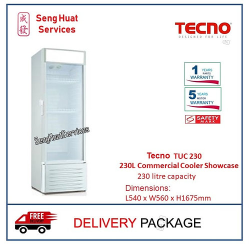 Tecno TUC 230 230L Commercial Cooler Showcase