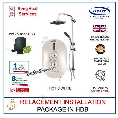 REPLACE INSTALL OF Elmark i Hot 8 WHITE Instant Heater With Rain Shower COD