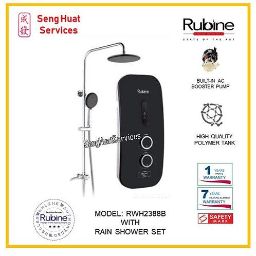 Rubine RWH 2388B  Heater + Rain Shower ( SERVICES OPTION TO SELECT )