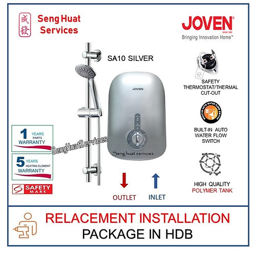 Joven SA10 Silver instant heater REPLACE INSTALL  COD